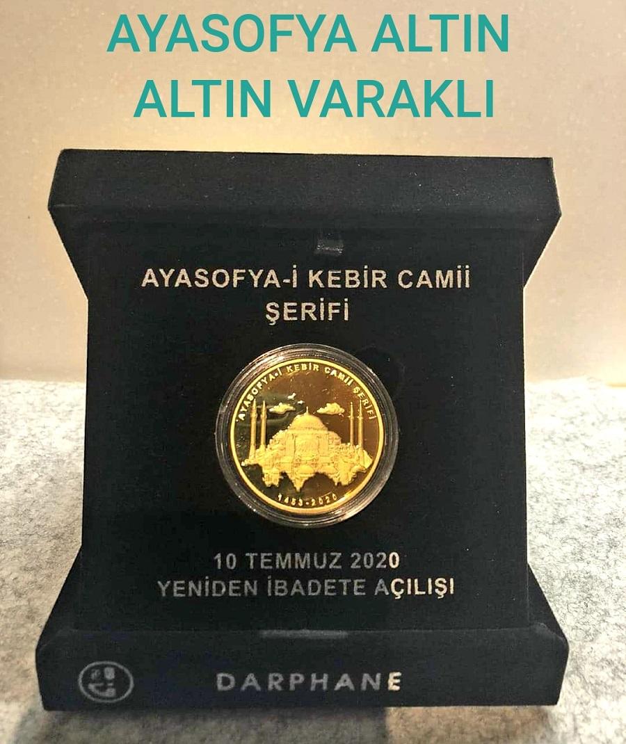ALTIN VARAKLI AYASOFYA HATIRA