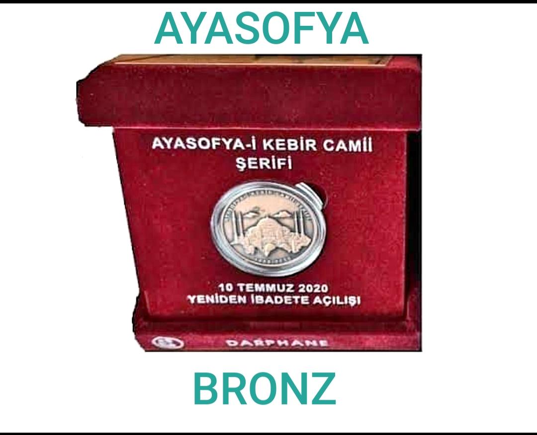BRONZ AYASOFYA HATIRA